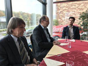 v.l. Präsident DJG Saarbrücken e.V., Manfred Krischeck,Hauptgeschäftsführer LSVS Paul Hans, Assistent der Geschäftsführung LSVS André Forsch